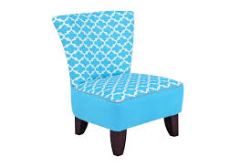 armless chair in fulton coastal blue by kangaroo trading co ship from gardner