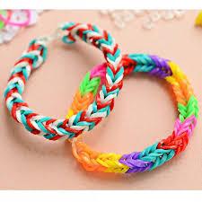 diy colourful rainbow rubber loom bands bracelet making kit set thestar p