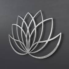 modern lotus flower metal wall art sculpture lotus flower art silver wall art large metal wall art modern home decor yoga wall art on metal lotus flower wall art with modern lotus flower metal wall art sculpture lotus flower art