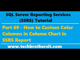 Ssrs Tutorial 69 How To Custom Color Columns In Column Chart In Ssrs Report