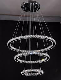 modern re led crystal 3 ring pendant lights diamond ring modern re led crystal 3 ring