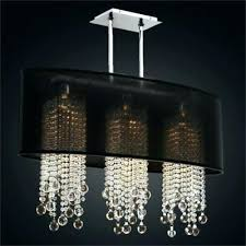oval chandelier crystal modern bubble shade with 6 lights