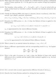 solving the heat equation 4 classify the following pdes with respect to linearity linear or nar order