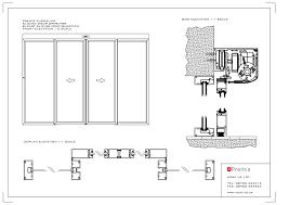 sliding glass doors drawing. Interesting Doors Noteworthy Glass Door Tracks Sliding Detail Drawing  Gliding In Doors