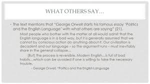 the moves that matter in academic writing ch they say i say english language what others say the text mentions that george orwell starts his famous essay politics