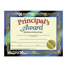 Principal Award Certificate H Va689 Certificates Principals Award 30 Pk