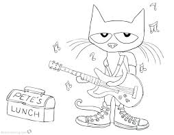 Pete The Cat Coloring The Cat Plays Guitar Coloring Page Pete The