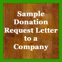 sample donation request letter pany