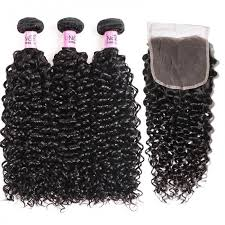 Weave Inches Chart Unice Hair Icenu Series 3 Bundles Brazilian Jerry Curly Hair Weave With 5x5 Lace Closure Sew In