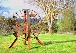 farm tool memorial sculpture