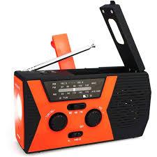 Radio Retekess HR12W AM FM NOAA 2000mAh có đèn pin LED phát tín hiệu SOS  kiêm sạc dự phòng cho điện thoại tốt giá rẻ