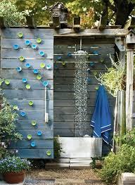 diy outdoor shower ideas plans