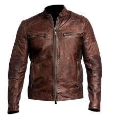 men s cafe racer distressed brown leather jacket distressed jackets