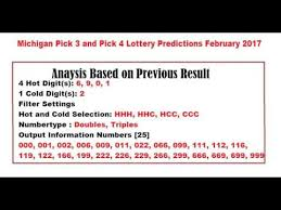 Michigan Lottery Frequency Chart Michigan Lottery Picks