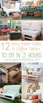 easy diy pallet sofa coffee table apieceofrainbow 9