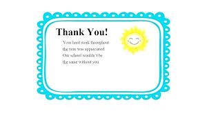Printable Teacher Thank You Cards For Appreciation English