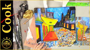 vincent van gogh s cafe terrace at night painting a canvas tote part 1 of 5 by ginger cook