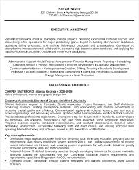 10 Executive Administrative Assistant Resume Templates Free Resume