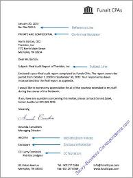 Business Letter Definition Template Magnificent Business Letter With Additional Letter Elements Reference Line On