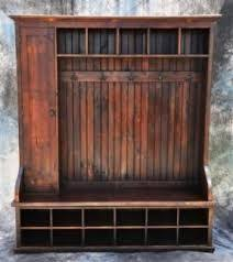 Wooden Coat And Shoe Rack Rustic Built In Entry Way Seating Garage Pinterest Coat Racks 19
