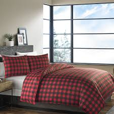 com ed bauer 210707 mountain plaid duvet cover set scarlet full queen home kitchen