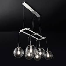2017 new post modern silver metal round glass ball chandeliers lighting for livingroom