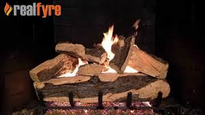 Peterson Split Oak Designer Plus Peterson Real Fyre Rugged Split Oak Log Set Shown With The G45 Burner