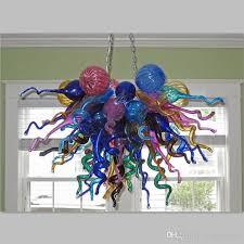 12v led bulbs lights multi color blown glass chandelier lighting hand made art decor light living room chandelier lighting shabby chic chandelier kitchen
