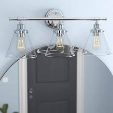 Vanity lighting for bathroom Vintage Kendrick 3light Vanity Light Wayfair Bathroom Vanity Lighting