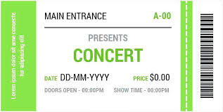 Free Concert Ticket Template Custom Concert Ticket Template Free Download Wedding Invitation Pink Style