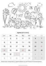 Calendario Aprile 2019 Da Stampare Italia