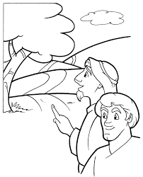 Small Picture Road to Emmaus Coloring Page