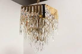 stunning brass and glass chandelier