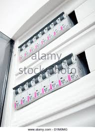 fuse box home stock photos fuse box home stock images alamy closeup view of a box automatic fuses stock image