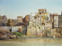 Image result for watercolours museum of rome in trastevere