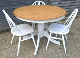 chair shabby chic round dining table and chairs beautiful oak farrow ball all white free delivery