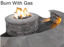 push on gas fire pit kit