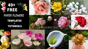 Flower Templates For Paper Flowers Free Paper Flowers Tutorials How To Make Paper Flowers Step