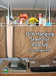 pop up shelf simple hanging shelf for a pop up camper make this simple hanging