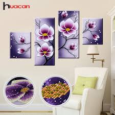 compare prices huacan special shaped diamond embroidery mosaic flowers wall decor diy 5d diamond orchid on orchid flower wall art with compare prices huacan special shaped diamond embroidery mosaic