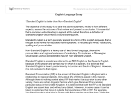 standard english non standard english a level english marked  document image preview