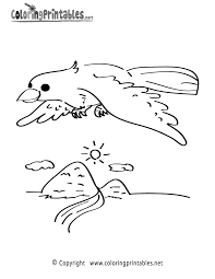 Small Picture Flying Bird Coloring Page A Free Animal Coloring Printable