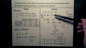 word problems systems of equations interest and mixture