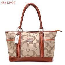 Coach Madison Signature Large Tote Bag Brown. Fashion ...