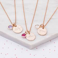 mini esme sterling silver disc child s personalised name necklace