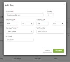 Create A Commercial Invoice Generate A Commercial Invoice Shippo