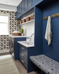 Laundry room office design blue wall Ideas Photo By Valerie Wilcox Cadieux Design Created This Laundry Room For Design Milk Modern Laundry Rooms That Will Make Laundry More Fun Design Milk
