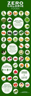 Food And Its Nutrients Chart Zero Calorie Food Chart Infographic