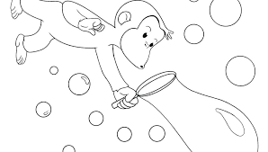 Curious George Coloring Books Curious Reading A Book Coloring Pages