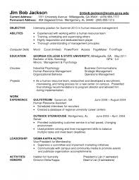 Internship Resume Objective Sample Resumes For College Students